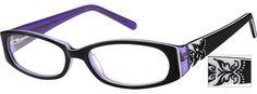 Order online, women black full rim acetate/plastic oval eyeglass frames model…