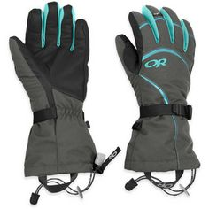 Modulate the warmth the gloves is providing. Just remove the liner glove! Highcamp Gloves (Women's) #OutdoorResearch at RockCreek.com