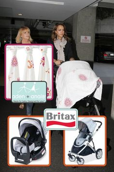 Celeb Baby Gear: Get the Look! Britax Chaperone Silver Infant Carseat attached to a B-Ready Stroller