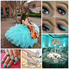 Blue Quinceanera | Quinceanera Ideas | Cello Instrument |