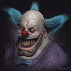 Krusty the Clown by Wil Hughes   Caricature   3D   CGSociety