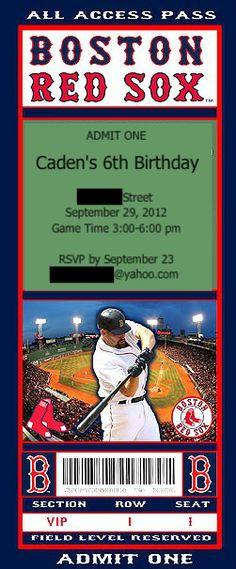 Baseball Invites  www.athirdsliceofpie.com