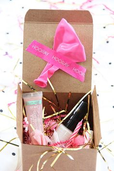 Do it Yourself Gift Baskets Ideas for All Occasions - Perfect when you cant be there - mail a Birthday in a BOX - cute idea via A Bubbly Life
