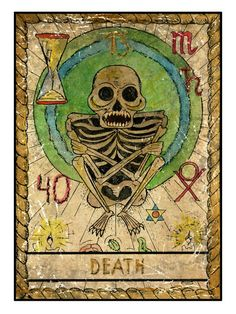 The origins of the Tarot are surrounded with myth and lore. It is hard to know for sure what the facts are. The Tarot has been thought to come from places like India, Egypt, China and Morocco. Others say the Tarot was brought to us fr Major Arcana Cards, Tarot Major Arcana, Tarot Death, What Are Tarot Cards, Mystic Symbols, Engraving Illustration, Tarot Learning, Tarot Readers, Tarot Spreads