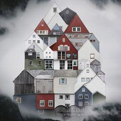 En lo más fffres.co: El collage urbano de Anastasia Savinova: Los romanos denominaban Genius Loci al espíritu guardián de una casa; era la…