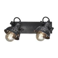 Swivel Wall Spotlight | Double Wall Light | Pewter Vintage Adjustable – Industville