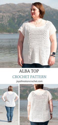 Alba top Crochet pattern. Crochet top off shoulder. Crochet Top Beach. Crochet top bohemian. Crochet top shirt. #crochetpattern #crochettop #crochetforher #topcrochet #crochettoppattern
