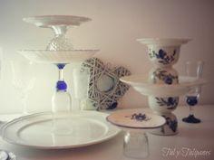 Pedestal vintage para la mesa de dulces