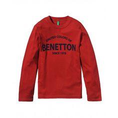 T-shirt maniche corte, in cotone, scollo rotondo finitura in costina, con stampa frontale verticale.3U1LC12FY RED