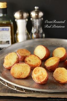 Oven Roasted Red Potatoes are a simple to make side dish that taste amazing! Give them a try! by www.whatscookingwithruthie.com #recipes #potato