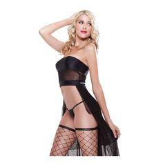 Una reina de la noche, inspirada en la línea de lencería extremadamente sexy de Fetish Fantasy, la parte trasera del vestido con capas a distintas alturas, mientras que en la parte superior se aferra a tu cuerpo acentuando tus curvas.
