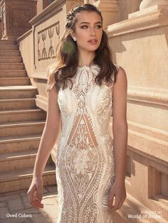 Oved Cohen 2016 wedding dresses feature Chantilly lace, soft satin, tulle, organza, sequins, pearls, sparkling crystals, feminine silhouettes and delicate embroidery.