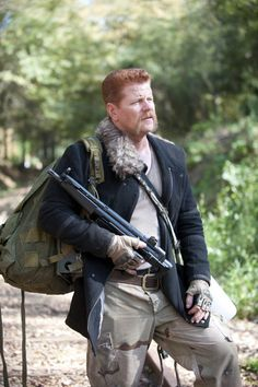 """Abraham Ford (Michael Cudlitz) TWD S4 E15  How did he put it? """"I wouldn't give a monkey's left nut""""...He's got very colorful language. Love it!"""