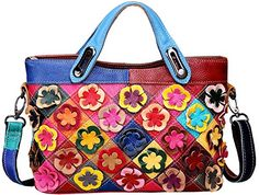 5314e93667 Heshe Women s Shoulder Bags Tote Purse Cross Body Handbag Multi color  Flowers