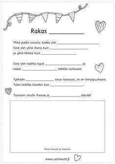 Early Education, Early Childhood Education, Finnish Language, Diy And Crafts, Crafts For Kids, Kids And Parenting, Cute Couples, Fathers Day, Art For Kids