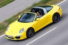 Porsche Targa 4S, Seitenansicht AMS 2014