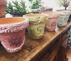 Painted Clay Pots, Painted Flower Pots, Iron Orchid Designs, Creative Arts And Crafts, Paper Clay, Mold Making, Terracotta Pots, Clay Creations, Shabby Chic Decor