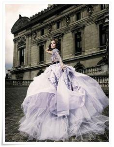 royal purple...wedding dress ;-)