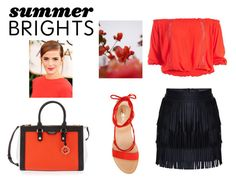 """summer brights #3"" by pdkizzy ❤ liked on Polyvore featuring Sans Souci, Vince Camuto, Henri Bendel, GUINEVERE, Emma Watson and summerbrights"
