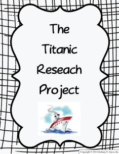 Shoebox diorama of the Titanic! Every student designed a