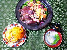 ♥漬け鰹のちらし寿司 ♥はまぐりの潮汁 ♥デコポンなます  普通ですね(笑)♪(*^_^*) 以前作った‥蜜柑なますをデコポンで作りました。そして、はじめて自家干しした椎茸の旨煮をちらし寿司に飾りました。 - 179件のもぐもぐ - ひなまつりな夕食 by Kusukus
