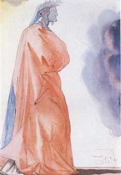 Salvador Dali, Dante, 1951. Via monsieurlabette.