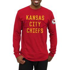 Kansas City Chiefs Fade Route Long Sleeve T-Shirt - Red