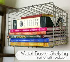 Basket for cookbooks