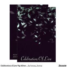 Celebration of Live Vip Silver Purple 9 Cm X 13 Cm Invitation Card