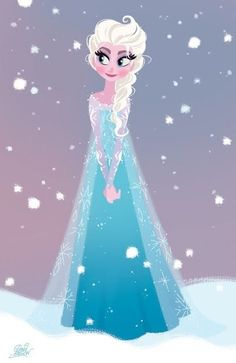 Elsa from Frozen.. sure wish I could read the signature in the corner.