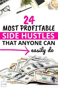 Looking to make some serious extra cash? Here is a list of 24 Most Lucrative Side Hustles Ever. Earn More Money, Make Money Fast, Make Money Blogging, Make Money From Home, Money Tips, Money Saving Tips, Make Money Online, Money Hacks, Earn Extra Cash