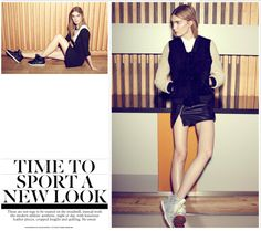 Sports-influenced fashion goes mainstream. Shot by Helen McArdle for The Independent. Hair by Jason Crozier of CrozNest in residence at No74 Hair & Beauty London.