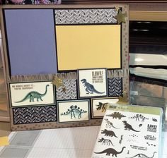 No Bones About It... Stampin' UP! 2015 Scrapbook Layout created by Denise Cox ... Birdsnest Designs on FB