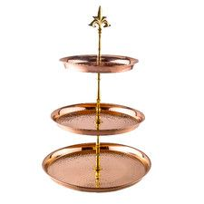3 Tier Hammered Solid Serving Stand