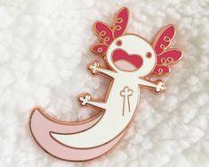 Albino Axolotl Enamel Lapel Pin