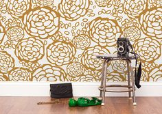 WALLPAPER OH JOY FOR HYGGE & WEST A collection of wallpaper featuring our nature-inspired prints and patterns.