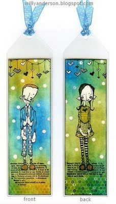 Love these stamps by Stampotique Originals... and love these bookmarks too!
