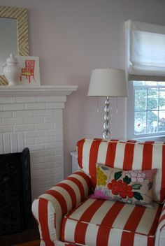 Iu0027m Looking For Ideas For New Slipcovers ~ Red Stripes? | Making A House A  Home... | Pinterest | Yellow Cottage, Striped Couch And Interiors