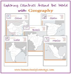Exploring Countries with Geography by sproutingtadpoles.com
