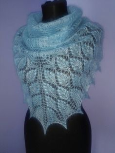 Ravelry: My Little Shepherdess Shawl/Пастушка pattern by Lyubov Shalnaya free Love the yarn choic! Knit Or Crochet, Lace Knitting, Crochet Shawl, Knitting Stitches, Shawl Patterns, Lace Patterns, Knitted Shawls, Crochet Scarves, Lace Shawls