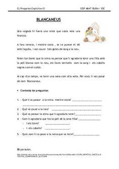 Preguntes explicites Catalan Language, Kids Learning Activities, Conte, Comprehension, Valencia, Teaching, Education, School, Acl