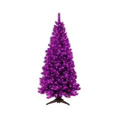 6ft Pre-Lit Artificial Christmas Tree Translucent Amethyst ($75) ❤ liked on Polyvore featuring home, home decor, artificial christmas tree, artificial flowers, home décor, plants and trees, purple, purple home decor and purple home accessories