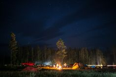 Bridge Bay Campgrounds at night.  camped here with brandi and dan 2010