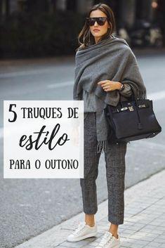 Truques de estilo no outono 5 truques de estilo para usar no outono! Look de outono, look inverno. Look inverno brasileiro. Style Outfits, Mode Outfits, Fall Outfits, Casual Outfits, Fashion Outfits, Look Casual Chic, Casual Looks, Pull & Bear, Over 50 Womens Fashion