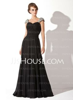 Evening Dresses - $129.99 - A-Line/Princess Sweetheart Chapel Train Chiffon  Charmeuse Evening Dresses With Ruffle  Beading (017005826) http://jjshouse.com/A-line-Princess-Sweetheart-Chapel-Train-Chiffon--Charmeuse-Evening-Dresses-With-Ruffle--Beading-017005826-g5826