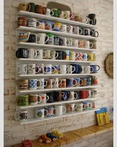 The MUG wall!! I want to make one! :)