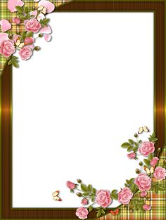 Roses  -  Frame Marijja  -  4shared Borders For Paper, Borders And Frames, Borders Free, Page Borders Design, Border Design, Printable Frames, Text Frame, Birthday Frames, Paper Background