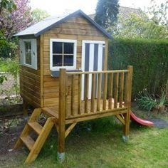 Cabane en bois pour enfant jardinage rh ne for Balancoire exterieur costco