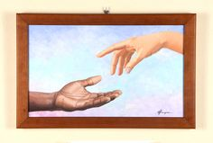 """Il sesto giorno"", acrilico su tela, 30x50 cm Painting, Art, Tela, Atelier, Art Background, Painting Art, Kunst, Paintings, Performing Arts"
