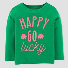 Just One You made by carter Toddler Girls  Happy Go Lucky Long Sleeve  T-Shirt - Just One You Made by Carter s® Green 1b74476c8826